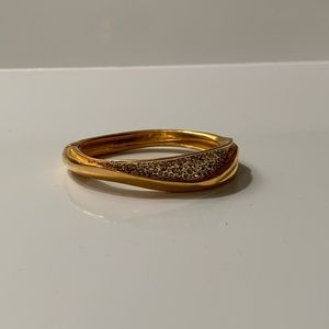 NWOT Alexis Bittar Gold Bangle with Crystals
